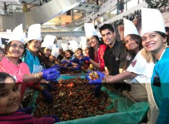 Cake mixing at Oberoi Mall 1