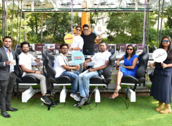L -R(Joseph from house ,Kiran Shreekumar, Abhilash Ingale, Cohan Sujay Carlos,Sangeetha Aiyer,on the deck it is Krushna Abhishek and Paras Thomar .