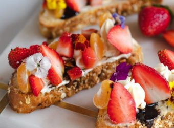 Strawberry, Tangerine and Goat Cheese Bruschetta