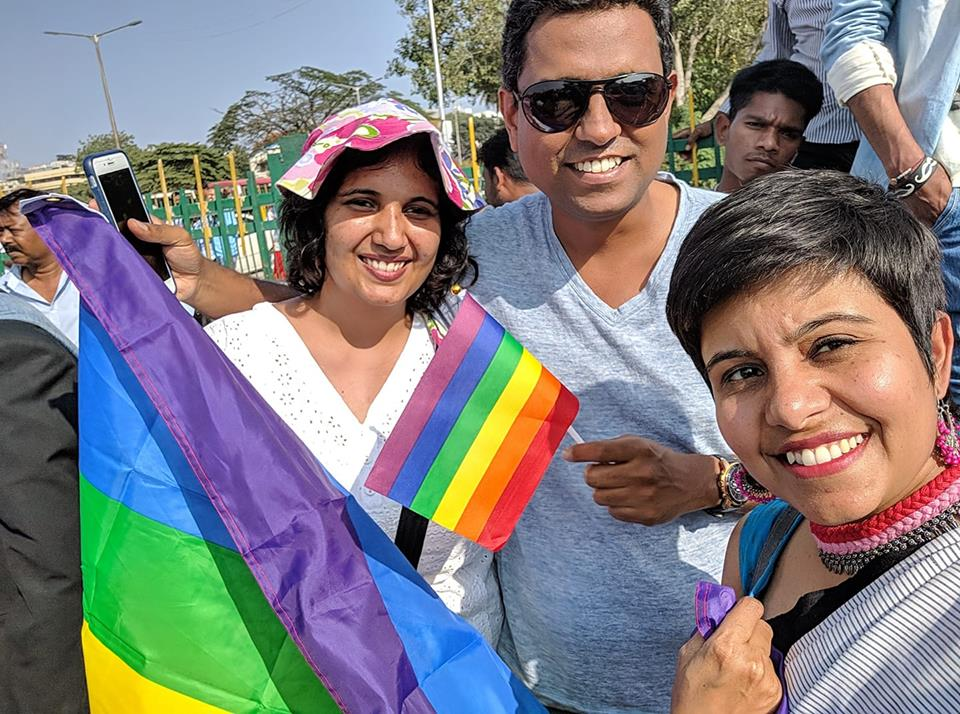 The queer community and their supporters assembled in large numbers, danced to the rhythmic drumbeats, attracting many onlookers.