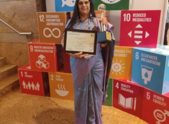 Dr Neelam Gupta, Founder & CEO, AROH Foundation conferred with United Nations GCNI's 'Innovative Practices Award 2019'