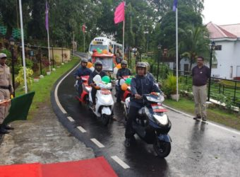 Lt. Governor Admiral Devendra Kumar Joshi flagged off the high speed electric scooters eBikeGo Ampere Zeal