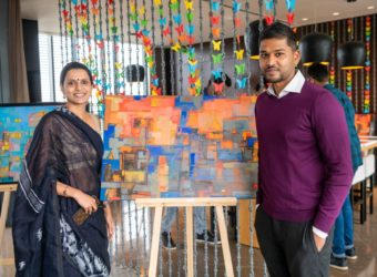 Art lovers at the BLVD Club Art Exhibition for a Cause